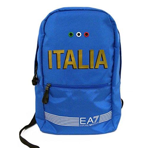 Emporio Armani EA7 zaino borsa uomo nylon originale italia blu