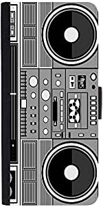 Snoogg Casette Tape Graphic Snap On Hard Back Leather + Pc Flip Cover Apple I...