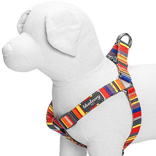 Blueberry Pet 5/8-Inch Nautical Flags Inspired Designer Step-In Dog Harness, Small