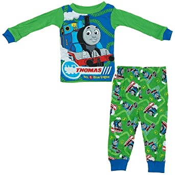 Thomas the Tank Engine Green Cotton Pajamas for Infant and Toddler Boys 18Months
