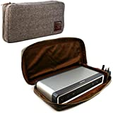 Tuff-Luv Herringbone Tweed NFC Travel case for Bose Soundlink Bluetooth Speaker III 3 with NFC tag - Brown