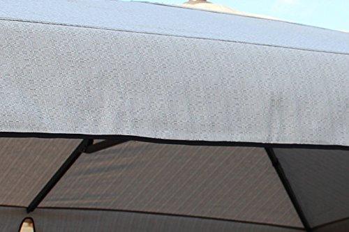 SUN GARDEN EASY SUN PARASOL Ersatzbezug eckig 320 x 320 cm grau meliert B038 in Polypropylene (Garlon) Ausführung bestellen
