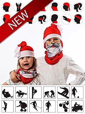 Christmas Santa Tubular Half Face Mask Neck Warmer Unisex Costume Headwear Gift Set