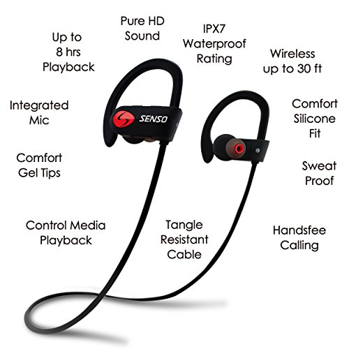 Senso ActivBuds Bluetooth Sports In-ear Headphone