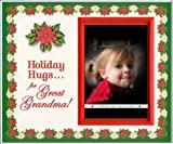 Holiday Hugs for Great Grandma - Christmas Picture Frame Gift