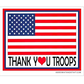 Thank You Troops USA Flag Car Magnet