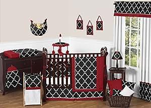 Amazon Com Sweet Jojo Designs Red Black And White