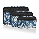 Heys Exotic 3pc Packing Cube Set - Damask
