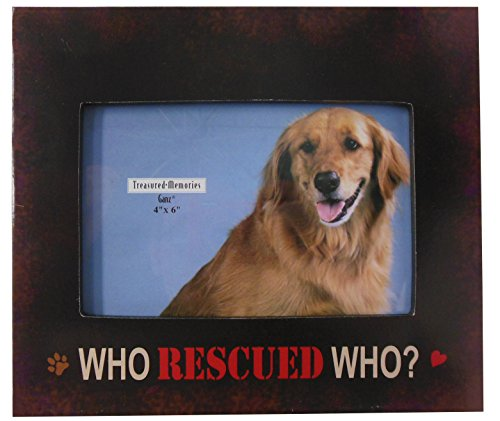 Who Rescued Who? Pet Picture Frame 4x6