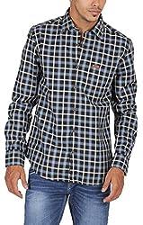 US Polo Assn. Men's Slim Fit Cotton Shirt (USSH3474_Black_M)
