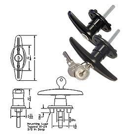 Truck Cap Locking T-Handles - Pair Set