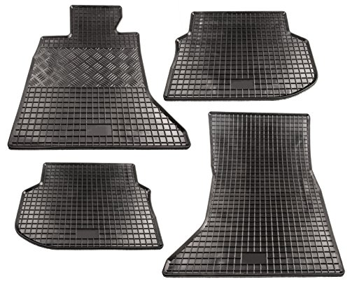 Premium Gummimatten Fußmatten Allwetter für Mercedes E-Klasse W211 S211 Limousine T-Modell