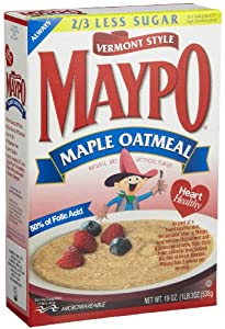 Maypo Vermont Style Maple Oatmeal Cereal,19-Ounce Boxes (Pack of 6)