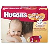 Huggies Little Snugglers Diapers, Size 1, 168 Count