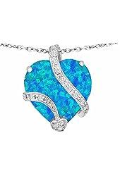 Star K 15mm Large Heart Pendant is Steling Silver