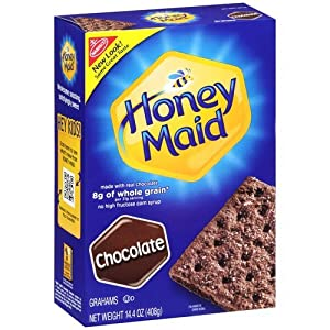 Nabisco, Honey Maid Graham Crackers, Chocolate, 14.4oz Box