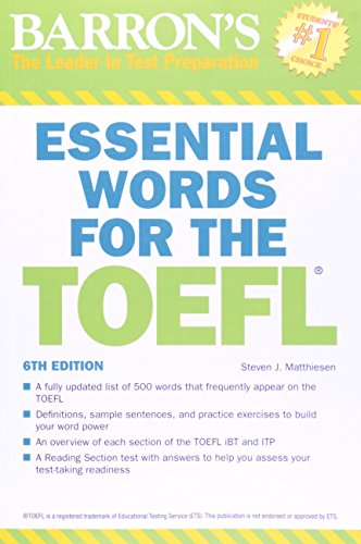 Essential Words for the TOEFL (Barron's Essential Words Series)