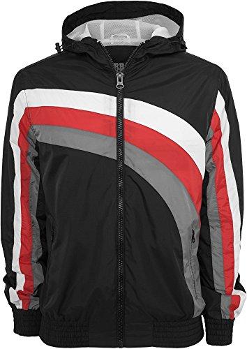 Urban Classics Racing Windbreaker Giacca a vento nero/rosso/grigio M