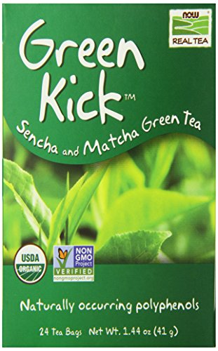 Now Foods Tea Bags, Green Kick, 24 Count