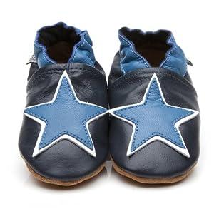 Chaussons Bébé en cuir doux Etoile Bleue 12/18 mois