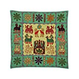 Rajrang Home Décor Embroidered Patch Work Olive Green Wall Hanging