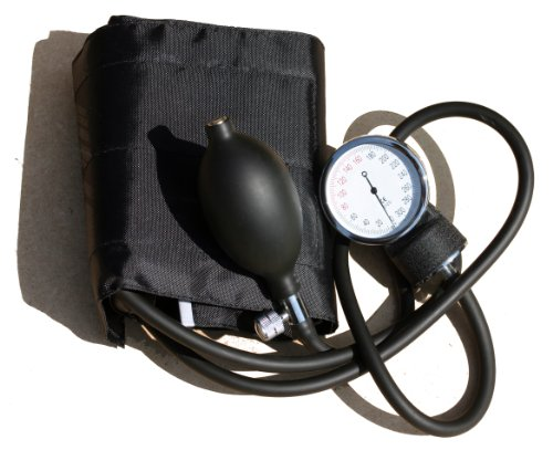 Professional ANEROID SPHYGMOMANOMETER standard adult D Ring Cuff with artery indicator