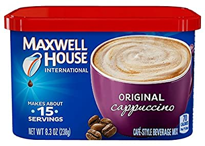 Maxwell House International Coffee Original Cappuccino, 8.3-Ounce (Pack of 4) from Maxwell House
