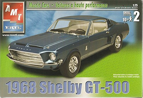 1968 Ford Shelby Mustang GT-500 1:25 Scale Model Muscle Car by AMT and ERTL (Pro Stock Model Car Kits compare prices)