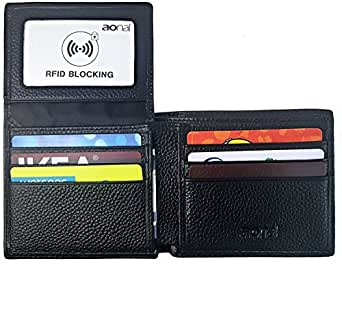 RFID Blocking Leather Wallet for Men - Excellent Travel Bifold - Credit Card Protector - RFID Blocking Wallet