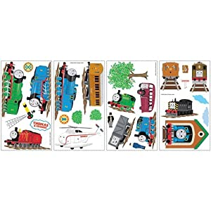 York Wallcoverings RMK1035SCS RoomMates Thomas & Friends Peel & Stick Wall Decal,