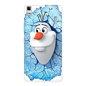 Enticing Snowy Olfa Multicolor Back Case Cover for Lenovo A7000