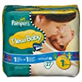Pampers - 81267867 - New Baby Couches - Taille 1 New Born (2-5 Kg) - Paquet 27