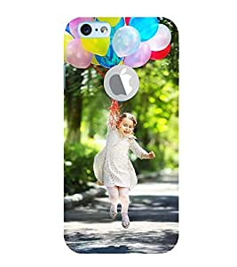 Vizagbeats flying with baloons Back Case Cover for Apple iPhone 6 logo cut