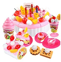 Children play toys, baby\'s birthday cake and toys, 3 to 7 years old girl play with toys (73 pieces)
