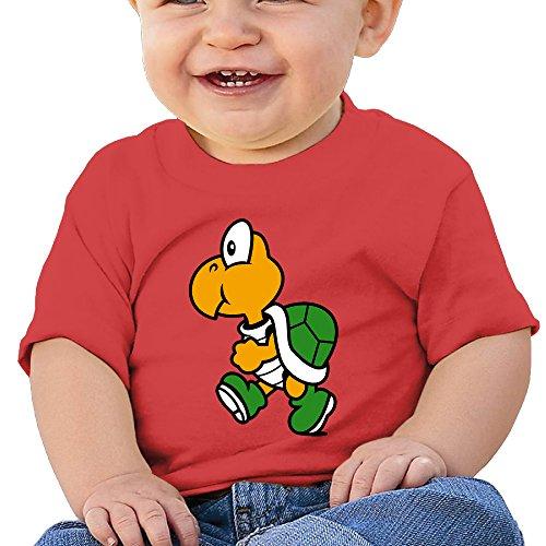 NUBIA Toddler Cute Cartoon Turtles Short-Sleeve ShirtsT-shirts Red 12 Months