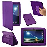 Stuff4 PU Leather Professional Portfolio Magnetic Case/Stand Cover for 7 inch Tesco Hudl - Purple