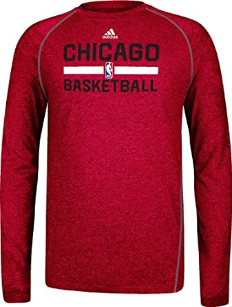 Chicago Bulls Adidas 2013 Red Long Sleeve Climalite T-Shirt by adidas