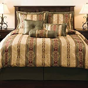 Mainstays Dakota 7-Piece Bedding Comforter Set, Full/Queen