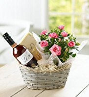 Rosé Wine & Rose Hamper