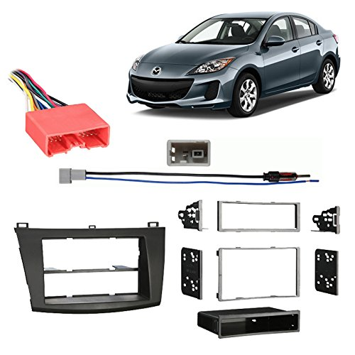 Fits Mazda Mazda3 2010-2013 Multi DIN Stereo Harness Radio Install Dash Kit (Double Din Kit Mazda 3 compare prices)