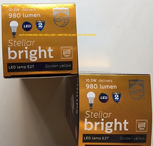 Stellar Bright 10.5W E27 980L LED Bulbs (Warm White, Pack of 2)