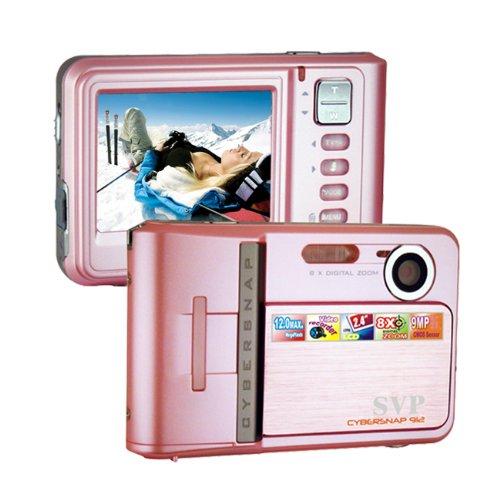 SVP Cybersnap-912 Pink 12mp Max 2.8-inch LCD Slim Digital Camera