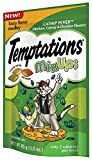 TEMPTATIONS MixUps CATNIP FEVER Flavor Treats for Cats, 3oz Pouch (Pack of 12)