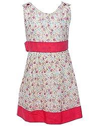 Babeezworld Pink flower dress-1 Year