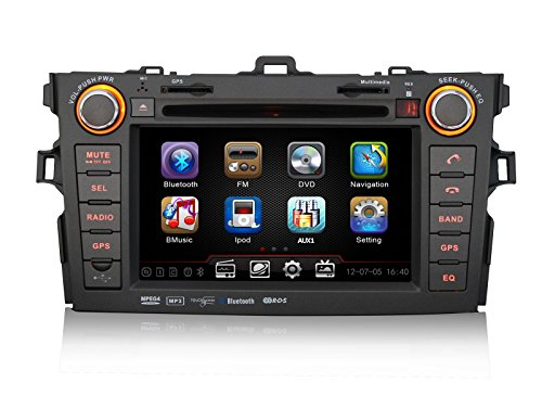 Pumpkin 7 Inch For Toyota Corolla 2007-2010 In Dash Hd Touch Screen Car Dvd Player Fm/Am Radio Stereo Gps Navigation