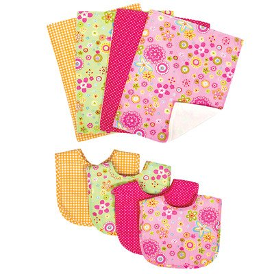 Trend Lab Nursery Kids Baby Gift Product Decorative Accessories Bouquet Set - Sherbet- Bib And Burp front-260263