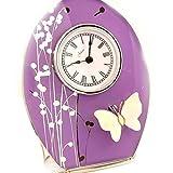 Clock 'Papillon De Soie'lilac.