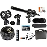 Professional Advanced Broadcast Microphone and accessories Kit for Canon EOS DSLR 5D Mark II III 6D 7D 7D II 80D 70D 60D T6s T6i T5i T4i T3i SL1 Cameras