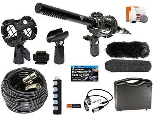 Professional Advanced Broadcast Microphone and accessories Kit for Canon EOS DSLR 5D Mark II III 6D 7D 7D II 80D 70D 60D T6s T6i T5i T4i T3i SL1 Cameras (70d Mark Ii compare prices)