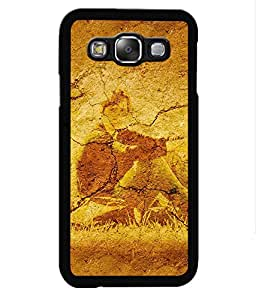 Crazymonk Premium Digital Printed Back Cover For Samsung Galaxy E5